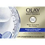 Olay Daily Facials Water Activated Dry Cloths Deeply Purifying Clean, 33 count
