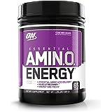 OPTIMUM NUTRITION ESSENTIAL AMINO ENERGY, Concord Grape, Keto Friendly BCAAs, Preworkout and Essential Amino Acids with Green