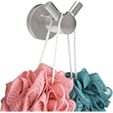 SAFETY+BEAUTY Bathroom Robe Hook, Towel Hanger, SUS304 Stainless Steel Constructed Rust Proof for Lifetime Use (Brushed Nicke