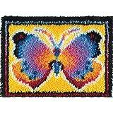 """Wonderart Butterfly Fantasy Latch Hook Kit, 15"""" X 20"""""""