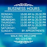LokaUS Professional Business Hours Sign Kit, 20x20 Inches Changeable Signs for Business, Customize Window Sign for Business,