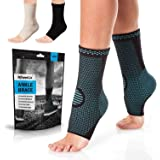 PowerLix Ankle Brace Compression Support Sleeve (Pair) for Injury Recovery, Joint Pain and More. Plantar Fasciitis Foot Socks