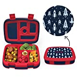 Bentgo Kids Prints (Space Rockets) - Leak-Proof, 5-Compartment Bento-Style Kids Lunch Box - Ideal Portion Sizes for Ages 3 to