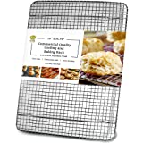 Ultra Cuisine 100% Stainless Steel Cooling and Baking Rack fits Jelly Roll Sheet Pan - Cool Cookies, Cake, Bread, Pie - Oven