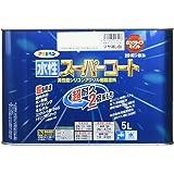 アサヒペン ペンキ 水性スーパーコート 水性多用途 ツヤ消し白 5L