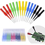 BingSnow Non-destructive Pin Test Probes Pin Insulation Piercing Needle, 15 Pack Probes Pin Set Use for Car Tester (Black, Re
