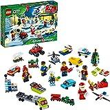 LEGO City 2020 Advent Calendar 60268 Playset, Includes 6 LEGO City Adventures TV Series Characters, Miniature Builds, City Pl