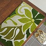 玄関マット ラニカイ 60×90 cm 洗える 滑り止め ハワイアン 国産 スミノエ製 イシバシ オリジナル グリーン