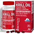 Antarctic Krill Oil 1000 mg with Omega-3s EPA, DHA, Astaxanthin and Phospholipids 100% Pure Premium Krill Oil - Heavy Metal T