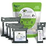 RegenerAir Natural Air Purifier Deodorizer Bags 6 Pack 100% Activated Bamboo Charcoal for Kitchens Bedrooms Bathrooms Toilets