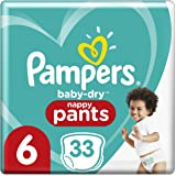 Pampers Baby Dry Nappy Pants (15kg +) Size 6 Junior, 33 count