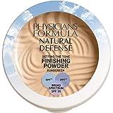 Physicians Formula Natural defense setting the tone finishing powder spf 20, Light, 0.35 Ounce