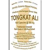 100 Capsules Traditionally Processed Indonesian 1:200 Tongkat Ali Dark Extract