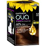 Garnier Olia Permanent Hair Colour 5.3 Golden Brown (Ammonia Free, Oil Based)