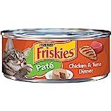 Purina Friskies Pate Wet Cat Food, Chicken & Tuna Dinner - (24) 5.5 oz. Cans