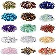 2000 Pcs Chip Gemstone Beads DIY Jewelry Making, Healing Engry Crystals Polishing Crushed Irregular Shaped Beads with Box (15