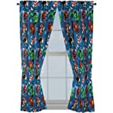 "Marvel Avengers Fighting Team 63"" Inch Drapes - Beautiful Room Décor & Easy Set Up, Bedding - Curtains Include 2 Tiebacks, 4"