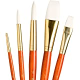 Princeton Real Value, Series 9100, Paint Brush Sets for Acrylic, Oil & Watercolor Painting, Syn-White Taklon (Rnd 2, 8, 12, S