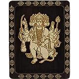 Lord Panchmukhi Hanuman Double Sided Tape Decorative Wooden Frame Car Dashboard