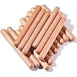 16 Pack Music Lummi Sticks for Kids, 8 Inch Rhythm Sticks with Carry Bag