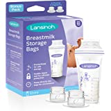 Lansinoh Breastmilk Storage Bags, 100 Count (1 Pack of 100 Bags), Milk Freezer Bags for Long Term Breastfeeding Storage, Pump