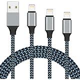 iPhone 充電ケーブル ライトニングケーブル 3本セット【2.8m/1.8m/1m】アイフォン USB 充電コード Lightning ケーブル iPhone iPad iPod AirPods 多種対応 急速充電 USB同期 高速データ転送 高