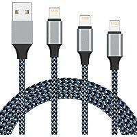 iPhone 充電線 Lightning 電纜 3根裝【2.8米/1.8米/1米】iPhone USB 充電線 Ligh…