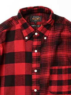 Crazy Check Buttondown Shirt 11-11-3458-139: Red / Black