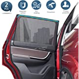 GEMWON Magnetic Car Sun Shades for Side Windows, Mesh Sunshade for Car Windows, Sun, Glare and UV Rays Protection for Men Wom