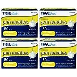 TRUEplus Pen Needles 31g 5mm (3/16 inch) - 4 x 50ct boxes (200 Pen Needles)
