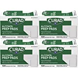 Curad Alcohol Prep Pads, Thick Alcohol Swabs (Pack of 400) - CUR45585RB