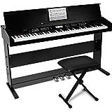 Alesis 88鍵盤 初心者向け 電子ピアノ ライトタッチ鍵盤 【3本ペダル/ /椅子/鍵盤カバー/譜面立て付き】ブラ…