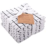 KAF Home Pantry 100% Cotton Checkered Grid Dish Cloths | Set of 6, 12 x 12 Inches | Absorbent and Machine Washable | Perfect