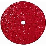 DUOBAO Sequin Tree Skirt 36 Inches Christmas Tree Skirt Rio Red Xmas Ornaments Rustic Xmas Holiday Decoration