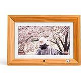 KODAK デジタルフォトフレーム【いつまでも色褪せない写真を飾る リモコン操作簡単 壁掛け可能】IPS液晶 1280*800 8GBメモリー MMC/SD/USBに対応 フレーム向きによって自動回転 写真/動画/音楽再生 時計/カレンダー機能付き