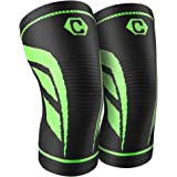 CAMBIVO 2 Pack Knee Brace, Knee Compression Sleeve Support Running, Arthritis, ACL, Meniscus Tear, Sports, Joint Pain Relief