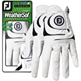 Footjoy Women's WeatherSof Golf Glove, Pack of 2 (White)