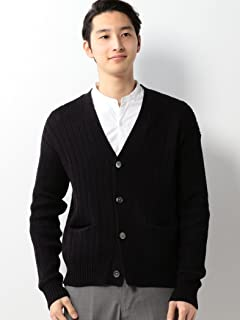 Cotton Middle Gauge V-neck Cardigan 1113-199-3854: Black