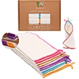 Reusable Unpaper Towels | Zero Waste, Washable, Paperless Bamboo Towels | Eco Friendly Reusable Towels For Kitchen | 10 pack