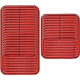 BIKICOCO 四角カン 四角リング、手芸用品 ナスカン 肩掛け 首輪 バッグ カバン ポシェット 財布 手作り、 3.8 x 2 cm、 レッド