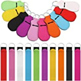 20 Pieces Chapstick Holder Keychain Lipstick Holder Clip-on Sleeve Chapstick Pouch Keychain Lip Balm Holder and Wristlet Lany
