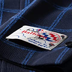 New Balloon Wool Plaid Jacket BYJ-05: Navy