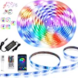 Led Strip Lights, 98.4ft /30M Bluetooth APP Controller Flexible Led Light Strip, Ultra Long Color Changing LED Rope Sync to M