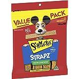 Schmackos Strapz Chicken Flavour Dog Treats, 2kg Value Pack, (4 x 500g bags), Puppy/Adult/Senior, Small/Medium/Large