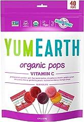 Yum Earth Organic Vitamin C Pops, 40+, 248 g,8.7 Ounce (Pack of 1),1603