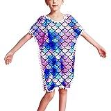 Jxstar Girls Beach Cover Up Swim Coverups Unicorn Mermaid Summer Tassel Dress