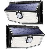 最新版 300Led 高輝度センサーライト 屋外 ソーラーライト IP67防水 3つ点灯モード 270度照明角度 設置超…