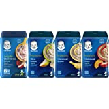 Gerber Baby Cereal Variety Pack - 1 Banana Apple Strawberry, 1 Rice Banana Apple, 1 Oatmeal Banana, 1 Oatmeal Peach Apple, 8
