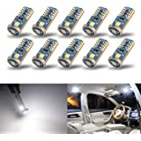 iBrightstar Newest Extremely Bright Wedge T10 168 194 LED Bulbs For Car Interior Dome Map Door Courtesy License Plate Lights,