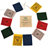 Mini Wind Horse Tibetan Prayer Flags from Nepal Set of 10 Flags